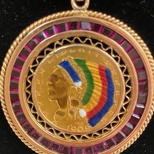 18k yellow and rose gold very rare 1909 O $5 gold